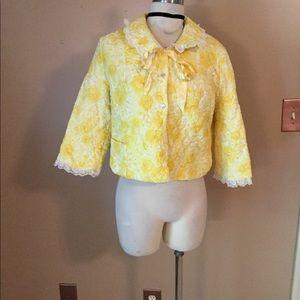 Rare vintage 50's 60's Yellow Stella fagin Coat MD